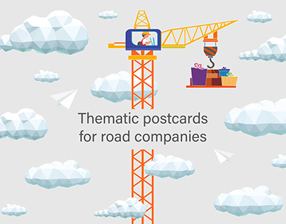 Thematic postcards for road companies