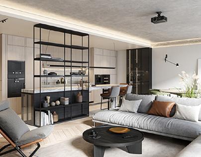 Modern apartment in Riga