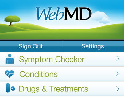 WebMD app for iPhone, iPad, Android and Kindle Fire.