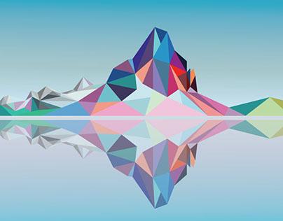 Mount Assiniboine - Digital Art