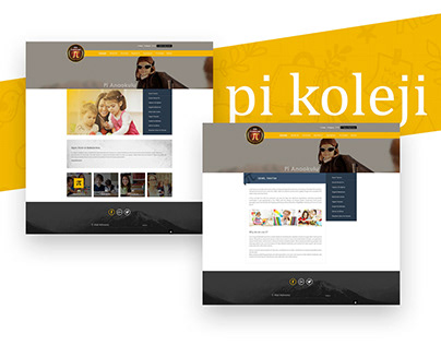 Pi Koleji Web Arayüz Tasarımı