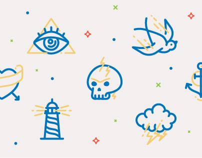 Traditional Tattoo Icons