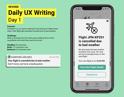 Daily UX Writing Challenge: Day 1