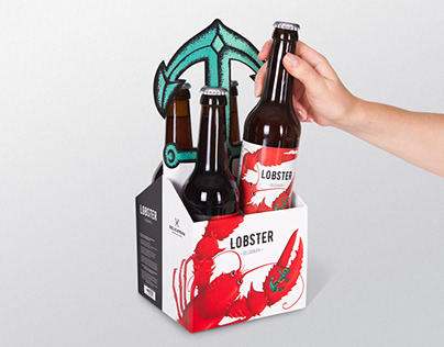 Packaging and label design for craft beer Lobster