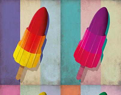 Rocket Lolly Poster Pop Art