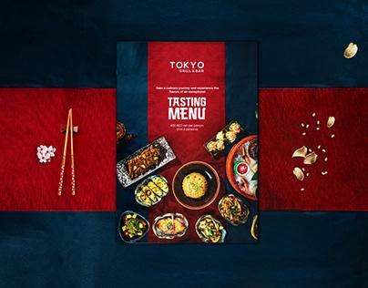 Menu Design for Japanese Themed Restaurant