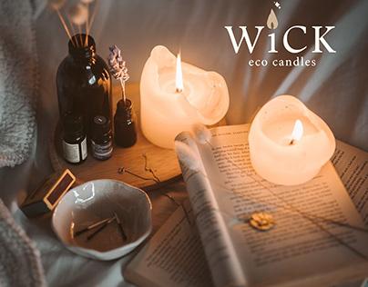 wick eco-friendly candles identity
