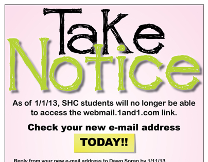 School Flyer for new email