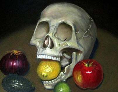 Skull with Fruit