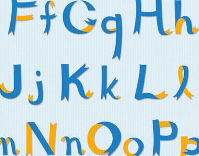 Ribbon Alphabets