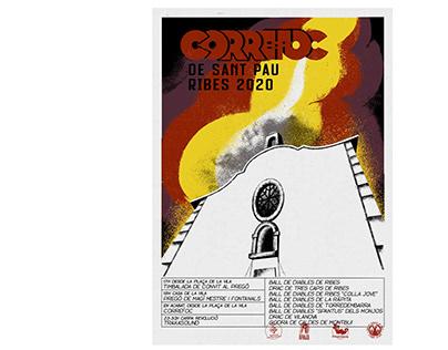 Correfoc de Sant Pau 2020. Poster