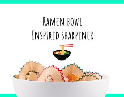 Ramen Bowl inspired Sharpner