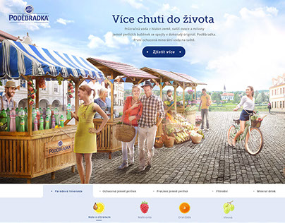 Poděbradka / web design