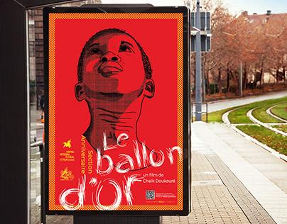 Affiche pour Le Ballon d'or, film présent au 40è FIFAM