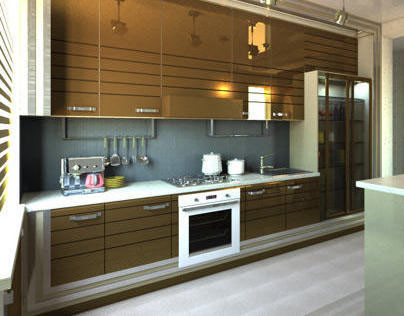 Design kitchen for Piazza Mebel Moscow