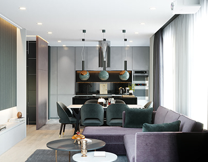 87 m2 apartment for young lady