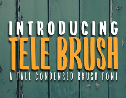 TELE BRUSH - FREE TALL CONDENSED BRUSH FONT