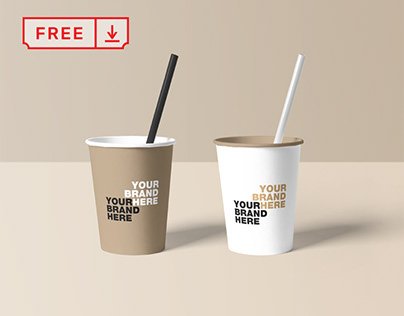 Free Paper Cup Mockups