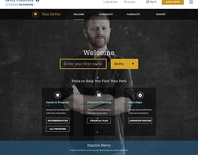 DeVry University Website Design