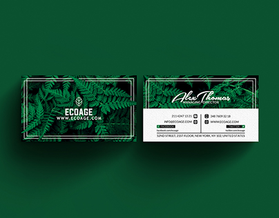 Free Natural Business Card Template