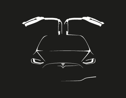 Tesla Model X Tee Shirt
