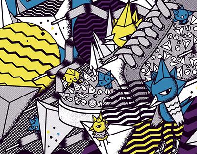 Lane Crawford Shoebox Art