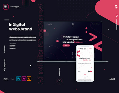 InDigital /Web&Brand design Project