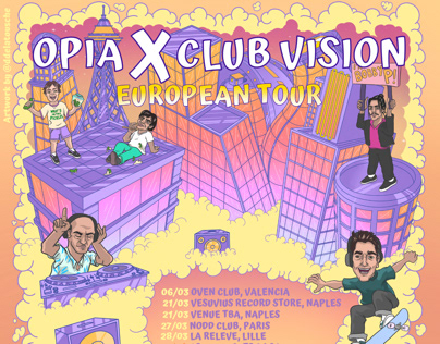 Opia + Clubvision Europe poster
