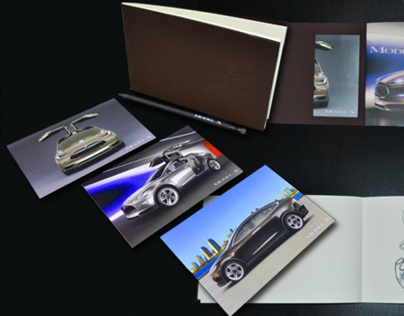 Tesla Model X Sketchbook and pencil
