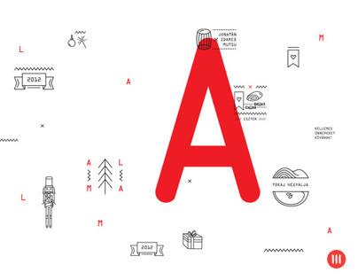 PRINT   Pálinka label and Xmas greeting card
