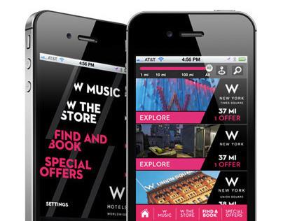 W Hotels Worldwide iPhone App