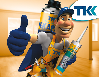 TKK Sealants and adhesives  IDENTITY, CONCEPT, MASCOTE