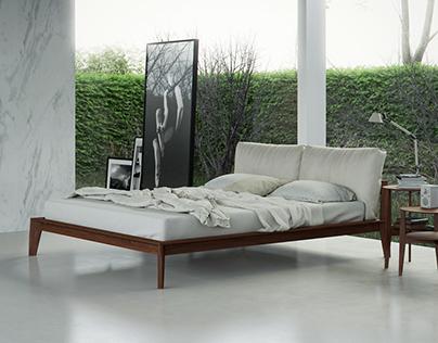 Molteni Wish Bed Vizualization (Free Bed 3d Model)