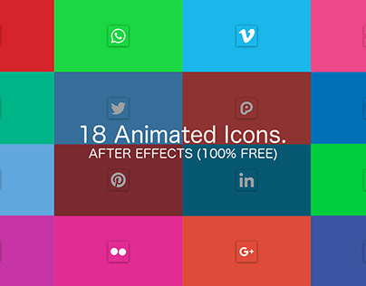 Social Media Icons Pack - After Effects(100% FREE)