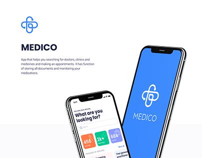 MEDICO — mobile app concept
