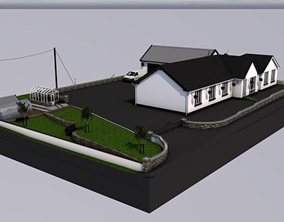 3D Model House Cinema 4D