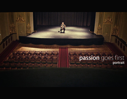 Passion goes first - Portrait