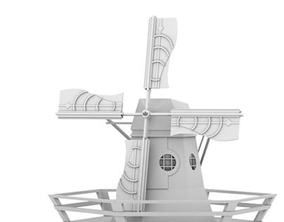 Art Nouveau Mill (3D)