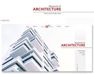 Promo site for design studio