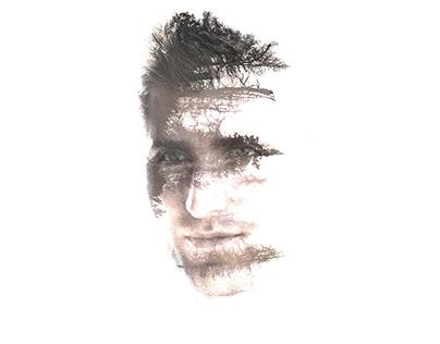 Double exposure portrait design