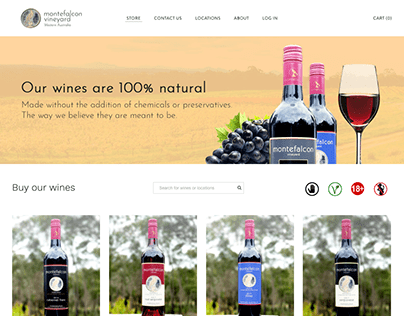 Australian ecommerce - Montefalcon Vineyard