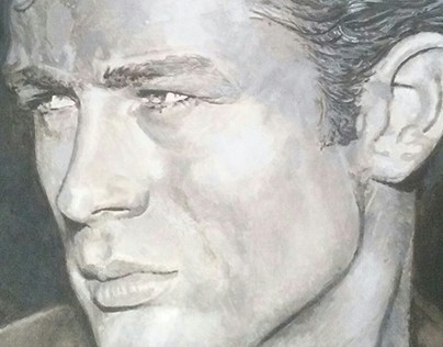 portrait of James Dean