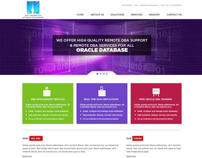 Mock-up Design for  Data Base Solution