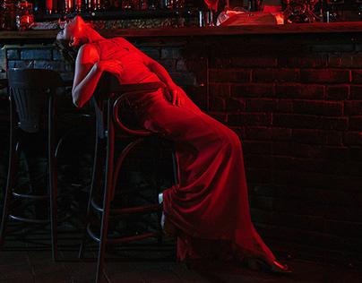 Girl in a bar. Miriam Sekhon