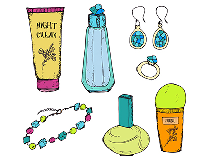 Hand drawn beauty collection