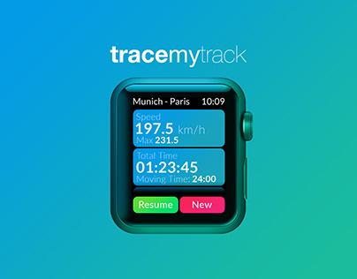Trace My Track   UI Design