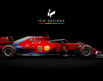 Ferrari F1 (with a dash of blue)