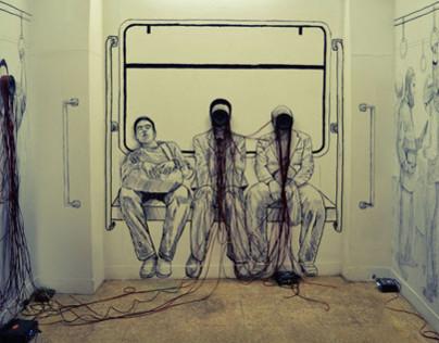 Drawing & Sound installation Art (Shubra Line) 2012