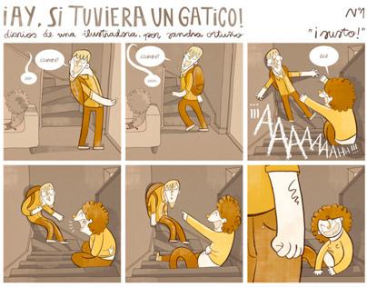 """¡Ay, si tuviera un gatico!"""" comic series"""
