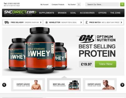 SNC Sports Nutrition E-Commerce Website